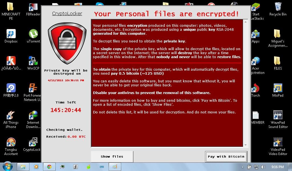 CryptoLocker [Closed] - Virus, Spyware & Malware Removal
