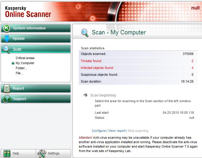 online scanner virus kaspersky