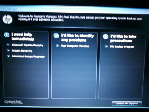 descargar recovery manager hp