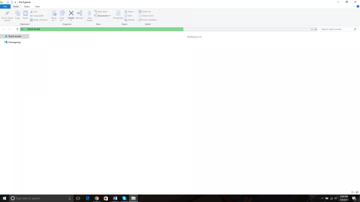 Virus or infection causing File explorer to not display